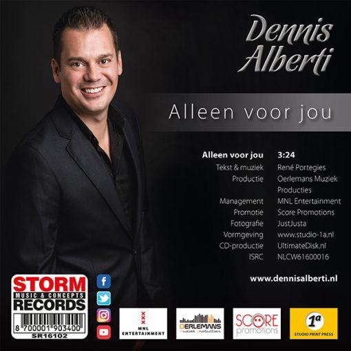 Dennis Alberti - Alleen voor jou (Back)