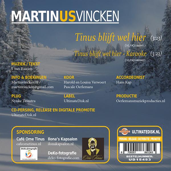 Martin vincken - Tinus blijft wel hier (Back)