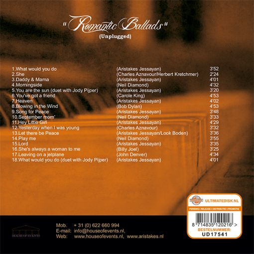 Aristakes - Romantic Ballads (Unplugged) (Back)