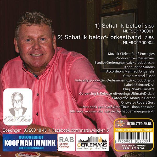Martin Vincken - Schat ik beloof (Back)
