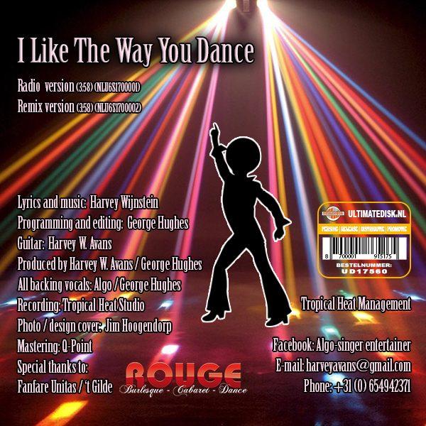 Algo - I like the way you dance (Back)