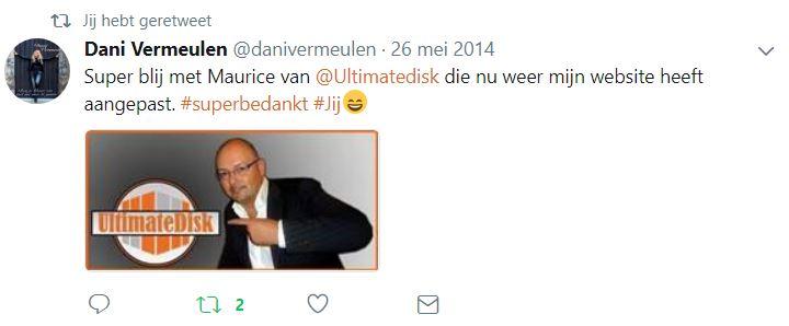 Dani Vermeulen Tweet