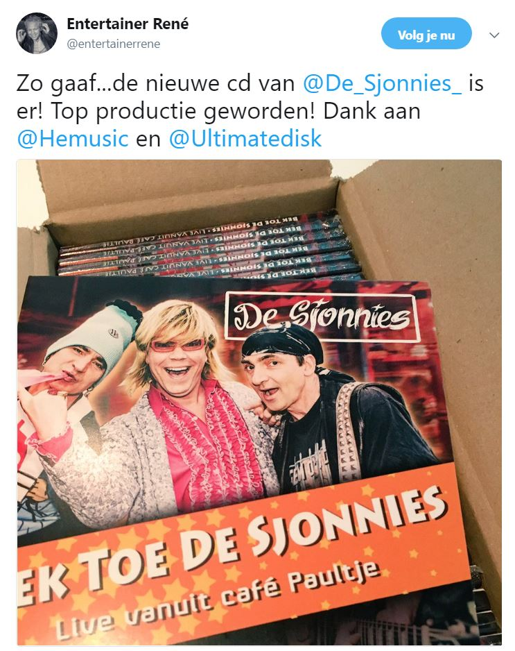 De Sjonnies Tweet