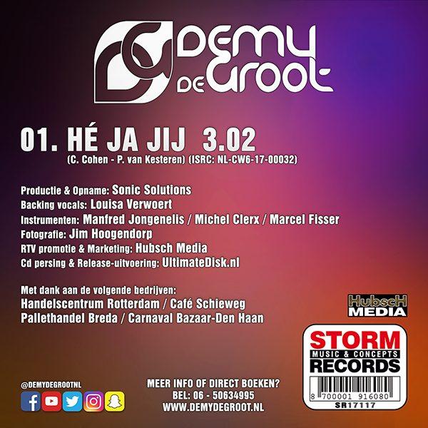 Demy de Groot - Hé Ja Jij (Back)