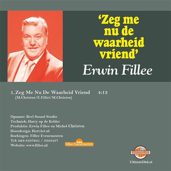 Erwin Fillee - Zeg me nu de waarheid vriend (Back)