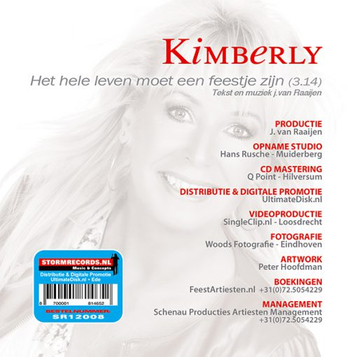 Kimberly - Het hele leven moet een feestje zijn (Back)