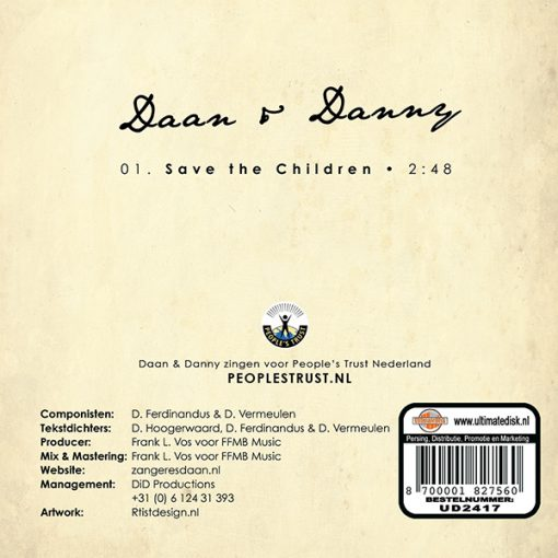 Daan & Danny - Save the Children (Back)