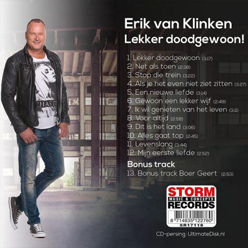 Erik van Klinken - Lekker doodgewoon (Back)