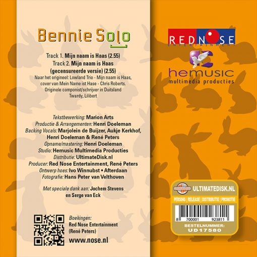 Bennie Solo - Mijn naam is Haas (Back)