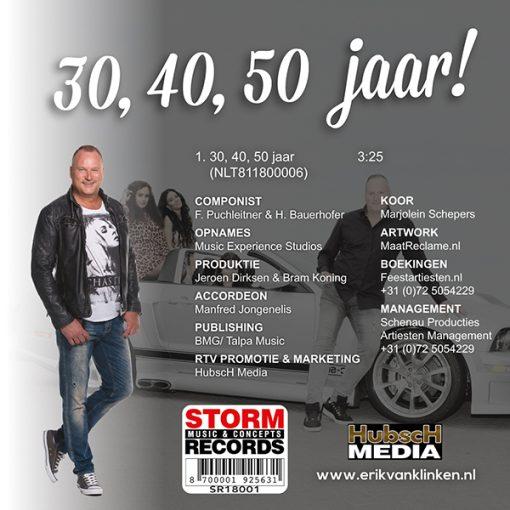 Erik van Klinken - 30, 40, 50 jaar (Back)