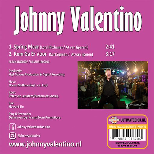 Johnny Valentino - Spring maar (Back)