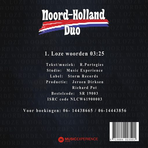 Noord-Holland Duo - Loze woorden (Back)