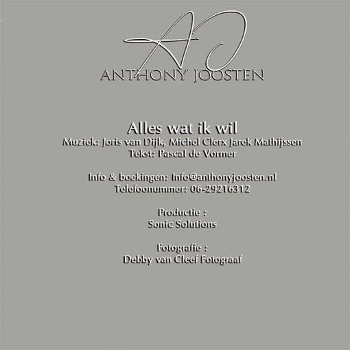 Anthonie Joosten - Alles wat ik wil (Back)