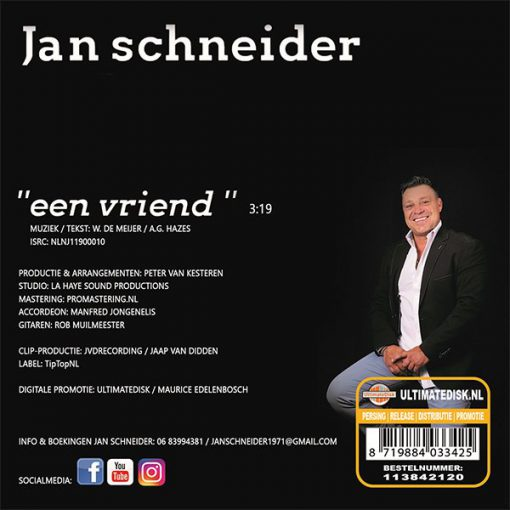 Jan Schneider - Een vriend (Back)