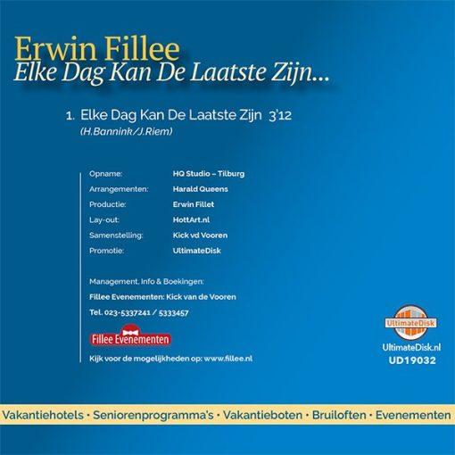 Erwin Fillee - Elke dag kan de laatste zijn (Back)