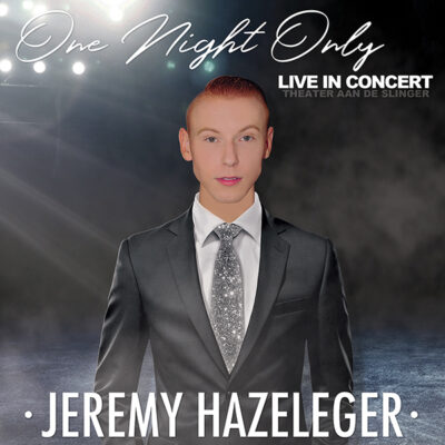 Jeremy Hazeleger - One Night Only (Front)