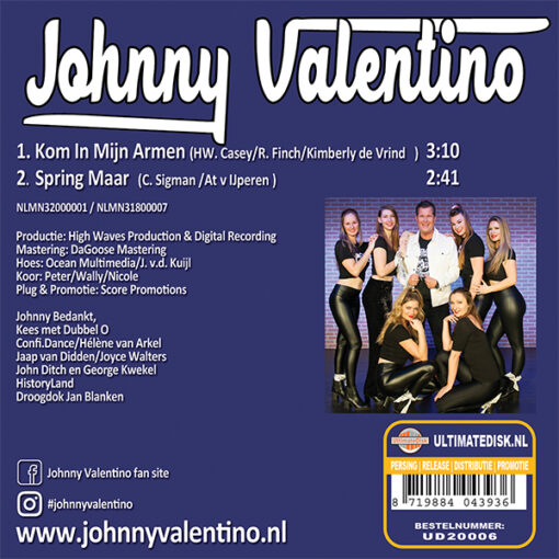 Johnny Valentino - Kom in mijn armen (Back)