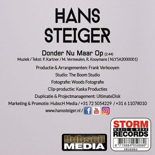Hans Steiger - Donder nu maar (Back)