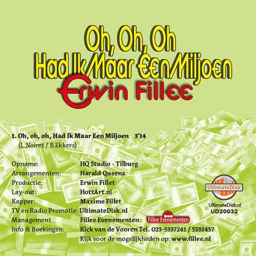 Erwin Fillee - Oh oh oh had ik maar een miljoen (Back)