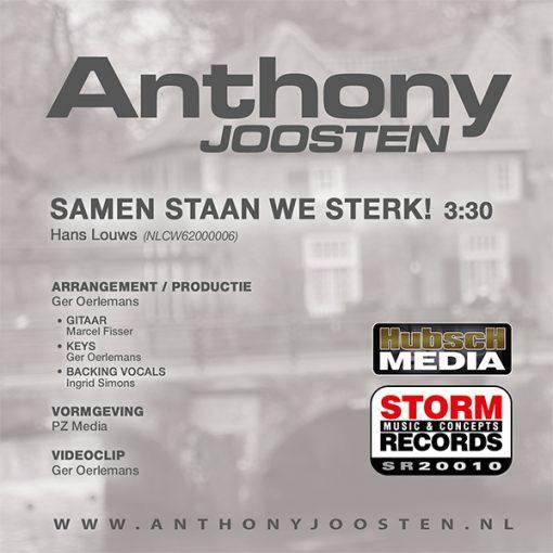 Anthony Joosten - Samen staan we sterk (Back)
