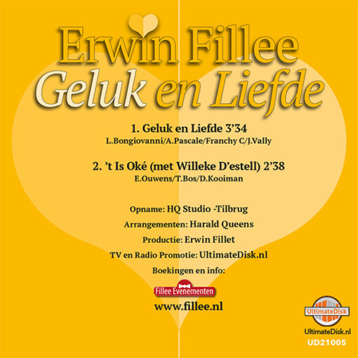 Erwin Fillee - Geluk en Liefde (Back)