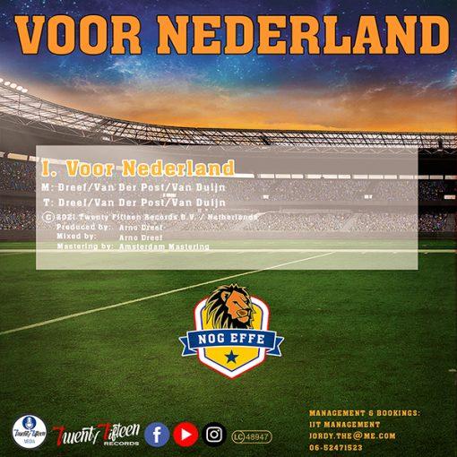 Nog Effe - Voor Nederland (Back)